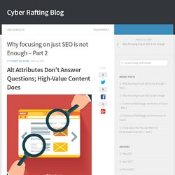 Why focusing on just SEO is not Enough – Part 2 - Cyber Rafting Blog