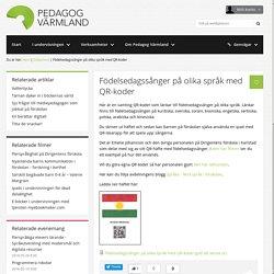 Födelsedagssånger på olika språk med QR-koder