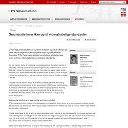 DTU08/10/12Gmo-studie lever ikke op til videnskabelige standarder