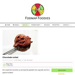 Fodmap dieet recept: chocolade sorbet
