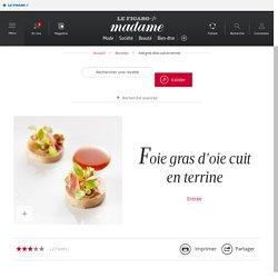 Foie gras d'oie cuit en terrine - une recette Foie Gras - Cuisine