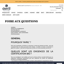 FOIRE AUX QUESTIONS - Avril