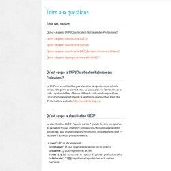 Foire aux questions - MonEmploi.com
