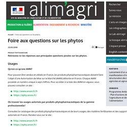 MAA 23/01/18 Foire aux questions sur les phytos
