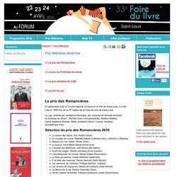 Foire du Livre de Saint-Louis (Alsace) : Prix littéraires