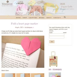 Fold a heart page marker