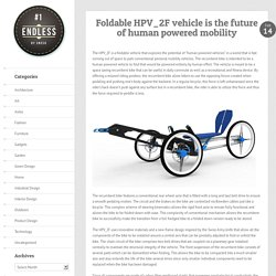 Foldable HPV_2F vehicle is the future of human powered mobility