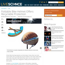 Foldable bike helmet offers recyclable protection