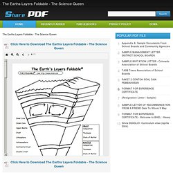 Downloading : The Earths Layers Foldable - The Science Queen - isharepdf.com