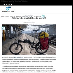 Why Are Foldable Bikes So Useful? - iFoldBikes.com