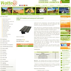 62W-12V foldable and waterproof solar panel with Watteo