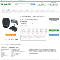 Promotional Foldable Wireless Optical Mouse as Business Promotional Item by Branders.com