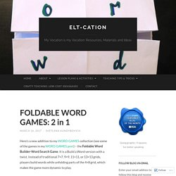 FOLDABLE WORD GAMES: 2 in 1