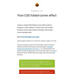 Pure CSS folded-corner effect – Nicolas Gallagher – Blog & Ephemera
