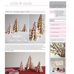 HOW TO: Folded Paper Tree
