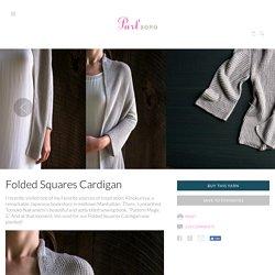 Folded Squares Cardigan