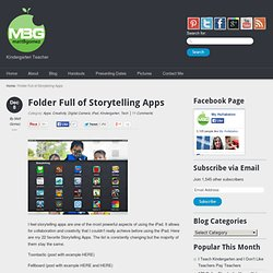 Folder Full of Storytelling Apps