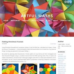 Folding Christmas Fractals - ARTFUL MATHS