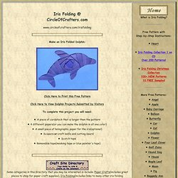 Iris Folding @ CircleOfCrafters.com: Make an Iris Folded Dolphin