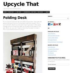 Folding Desk From Pallet
