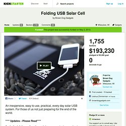 Folding USB Solar Cell by Brown Dog Gadgets