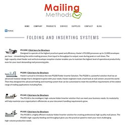 Folding & Inserting Systems at Mailing Methods Inc