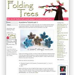 Folding Trees & Kusudama Tutorial part 1 - StumbleUpon