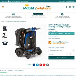 Drive 4 Wheel Manual Folding Mobility Scooter – Mobility Solutions Direct 2018