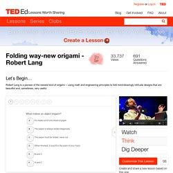 Folding way-new origami - Robert Lang
