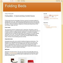 Folding Beds: Folding Beds – A Quick and Easy Comfort Source