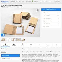 Folding Wood Booklet by SNIJLAB