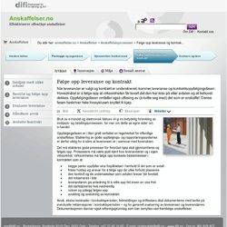 Følge opp leveranse og kontrakt - DIFI