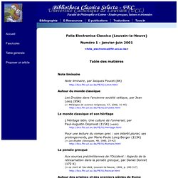 Folia Electronica Classica, t. 1, 2001 (TM)