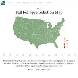 2018 Fall Foliage Map & Nationwide Peak Leaf Forecast