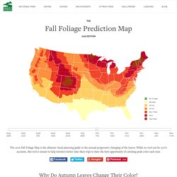 Fall Foliage Map 2015 & Nationwide Peak Leaf Forecast