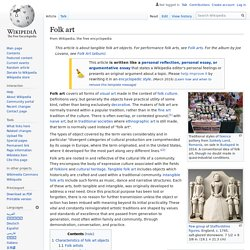 Folk art - Wikipedia