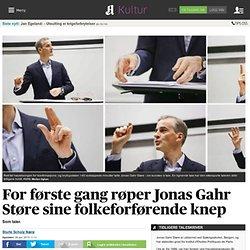 For første gang røper Jonas Gahr Støre sine folkeforførende knep