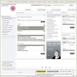 Folketinget - Dokumenter