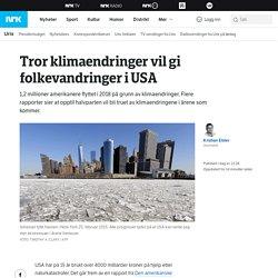 Tror klimaendringer vil gi folkevandringer i USA – NRK Urix – Utenriksnyheter...