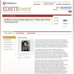 "Folklore in Zora Neale Hurston's ""Their Eyes Were Watching God"""