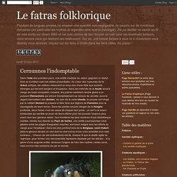 Le fatras folklorique: Cernunnos l'indomptable