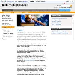 Folkrätt - Sakpol.se