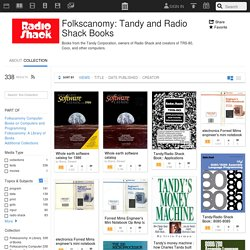 Folkscanomy: Tandy and Radio Shack Books : Free Texts : Download & Streaming