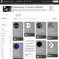 Folkscanomy: A Library of Books : Free Texts : Free Download, Borrow and Streaming