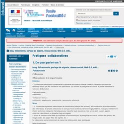 Terminologie tice pearltrees - Office de la langue francaise dictionnaire ...