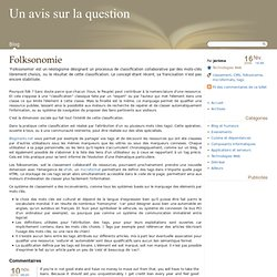 Folksonomie - Un avis sur la question
