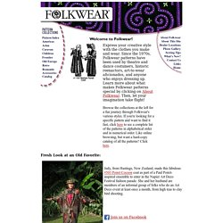 Folkwear Sewing Patterns ethnic clothing, period costumes, historic clothing patterns, art to wear fashion