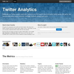 Foller.me Analytics for Twitter