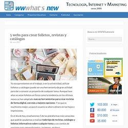5 webs para crear folletos, revistas y catálogos