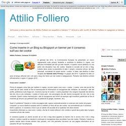 Come inserire in un Blog su Blogspot un banner per il consenso sull'uso dei cookie
